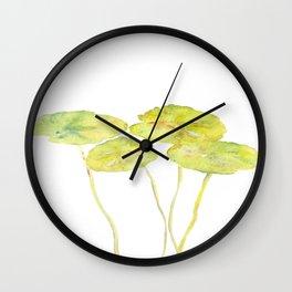 lotus leaves Wall Clock