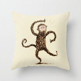 Silly Monkey! Throw Pillow