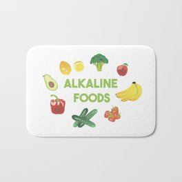 Alkaline Foods Healthy Diet Bath Mat