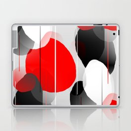 Modern Anxiety Abstract - Red, Black, Gray Laptop & iPad Skin
