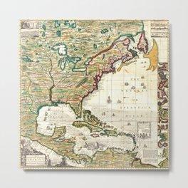 Map of the British Empire in America 1773  Metal Print