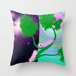 Two Worms and Love Throw Pillow