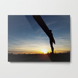Angel at Sunset Metal Print