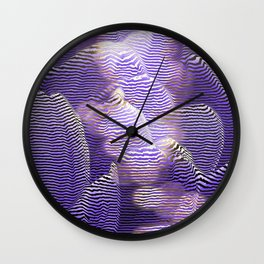 Striped crocus petals with bokeh effect Wall Clock