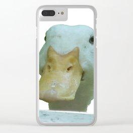 Peeking Duck Vector Clear iPhone Case