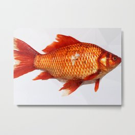 Geometric Goldfish Metal Print