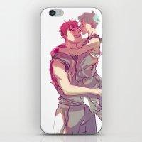 kuroko iPhone & iPod Skins featuring kagakuro kiss by jensuisdraws