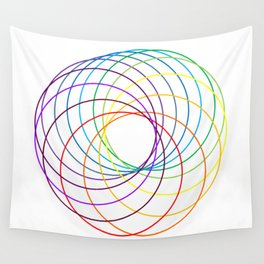 Spiranbow Graph Wall Tapestry