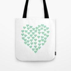 Hearts Heart Mint Tote Bag