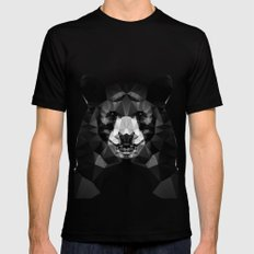 Bear - Black Geo Animal Series Mens Fitted Tee Black MEDIUM