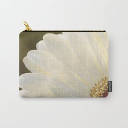 White Daisy in Love Carry-All Pouch