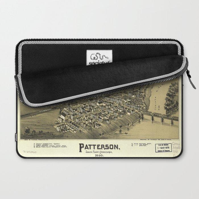 Aerial View of Patterson (Mifflin), Pennsylvania (1895) Laptop Sleeve