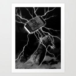 THOR'S HAMMER Art Print