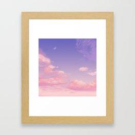 Sky Purple Aesthetic Lofi Framed Art Print