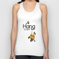 pixar Tank Tops featuring Pixar/Disney Wall-e Hang in There by Teacuppiranha