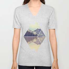 Mountain Reflection Unisex V-Neck
