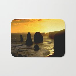 Sunset over the Twelve Apostles - Australia Bath Mat