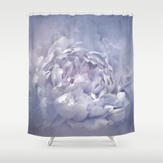 Blushing Lavender Peony - Floral Shower Curtain