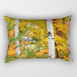 Birch Trees and Autumn Colors Rectangular Pillow