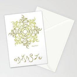 Namaste Mandala - Olive Green Stationery Cards