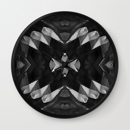 Cobra Pattern B&W Wall Clock