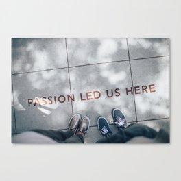 Passion Quote Canvas Print