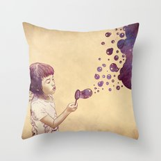 Cosmic Bubbles Throw Pillow