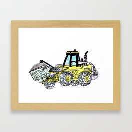 Front-End Loader Framed Art Print