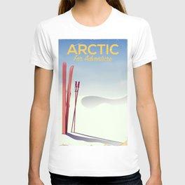 Arctic For adventure vintage poster T-shirt