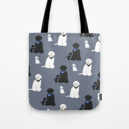Labradoodle black and white Tote Bag