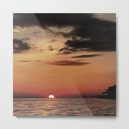 Autumn Evening Sundowner Metal Print