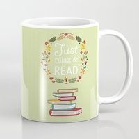 read Mugs featuring Read by Kakel