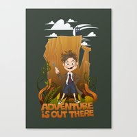 adventure is out there Canvas Prints featuring Adventure by BlancaJP
