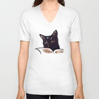 ripley V-neck T-shirts featuring Ripley Reads by Helenasia