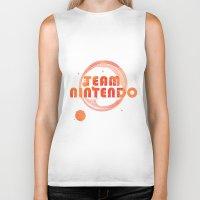 nintendo Biker Tanks featuring Team Nintendo by Bradley Bailey