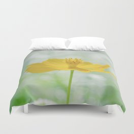Yellow Bloom Duvet Cover
