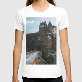 Fairytale Castle in a winter forest in Germany - Landscape and Architecture T-shirt