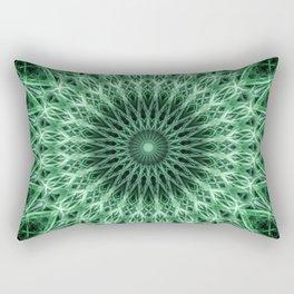 Mandala in light and dark green colors Rectangular Pillow