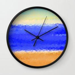 Crystallized Beach Day. Wall Clock