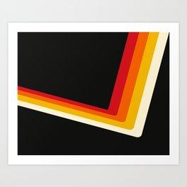 70s Bouncing Stripe Art Print