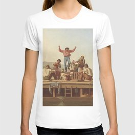 George Caleb Bingham The Jolly Flatboatmen 1846 Painting T-shirt