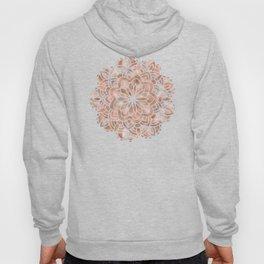 Mandala Rose Gold Flower Hoody