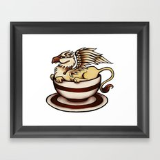 Griffin in a Tea Cup Framed Art Print