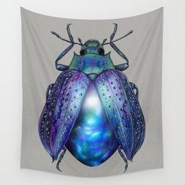 Black Opal Beetle Wall Tapestry