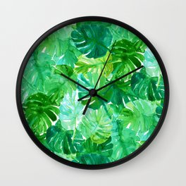 Welcome to the Jungle Palm Wall Clock