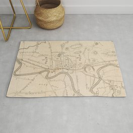 Vintage Map of Concord NH (1855) Rug