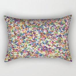 Rainbow Candy Dessert Sprinkles Rectangular Pillow