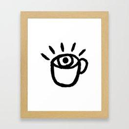 eye see coffee Framed Art Print