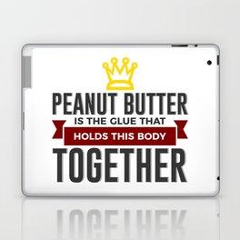 Love Peanut Butter Funny Foodie Design Laptop & iPad Skin
