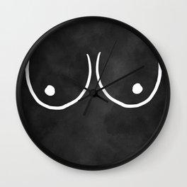 minimalist boobs Wall Clock
